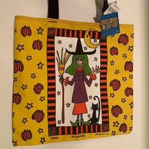 NWT CANVAS HALLOWEEN TOTE/ TRICK OR TREAT BAG.
